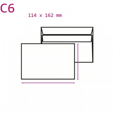 Obálka C6 114x162mm...