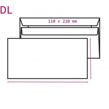 Obálka DL 110x220mm...
